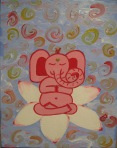 """Meadow's Ganesha"" Kids yogArt 14"" x 11"" (sold)"