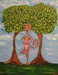 """Sky's Hanuman"" Kids yogArt 14"" x 11"" (sold)"