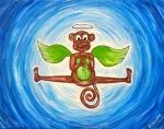 """My Monkey Angel"" Kids yogArt 11"" x 14"" (sold)"