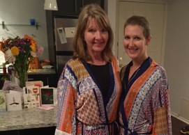 Mom & Me in our Recovery Robes