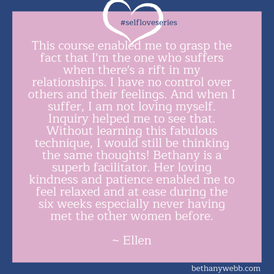 Self-Love Series Testimonia Bethany Webb - Ellen