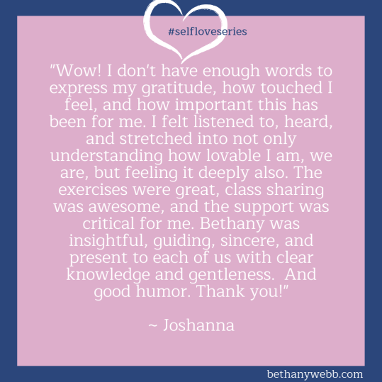 Self-Love Series Testimonia Bethany Webb - Joshannal