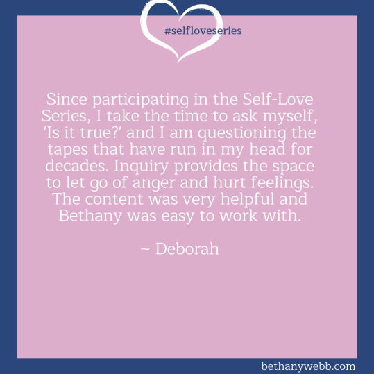 Self-Love Series Testimonia Bethany Webb - Deborah